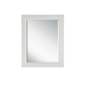 allen + roth 30-in H x 24-in W Windelton White Rectangular Bathroom Mirror