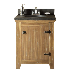 Style Selections 24-in Washed Driftwood Beckfield Single Sink Bathroom Vanity with Top