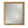 Style Selections 24-in H x 20-in W Beckfield Washed Driftwood Rectangular Bathroom Mirror