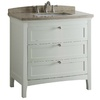 allen + roth Norbury White Undermount Single Sink Poplar Bathroom Vanity with Engineered Stone Top (Common: 36-in x 22-in; Actual: 36-in x 22-in)