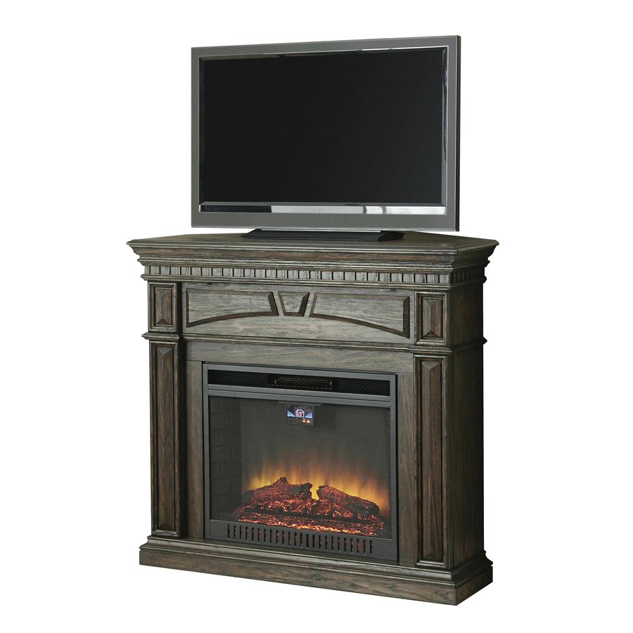 Shop Style Selections 47 5 In W 5 120 Btu Dark Driftwood Wood Fan Forced Electric Fireplace With