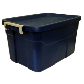 Centrex Plastics, LLC Rugged Tote 14-Gallon Blue Tote with Latching Lid