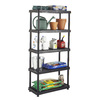 Blue Hawk 72-in H x 36-in W x 18-in D 5-Tier Plastic Freestanding Shelving Unit
