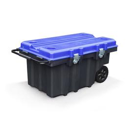 Kobalt 50-Gallon 24-in Black Plastic Tool Chest with Wheels