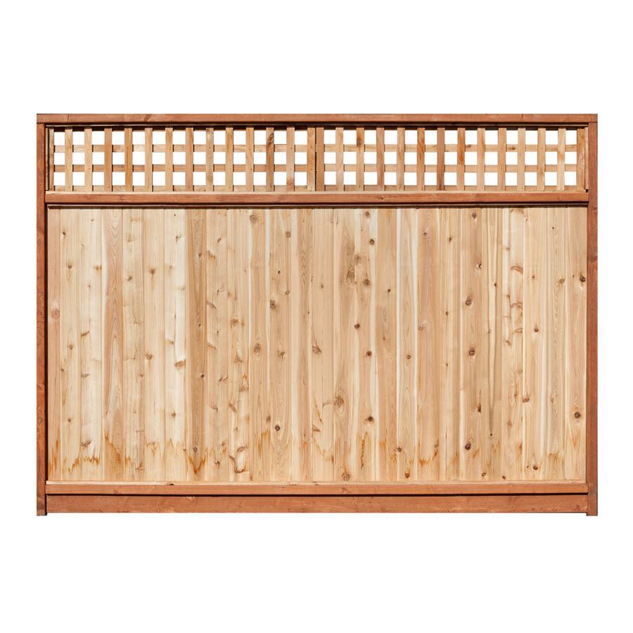 Shop Severe Weather Western Red Cedar Lattice-Top Wood Fence Privacy ...