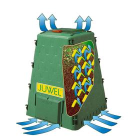Exaco 110-Gallon Plastic Stationary Bin Composter