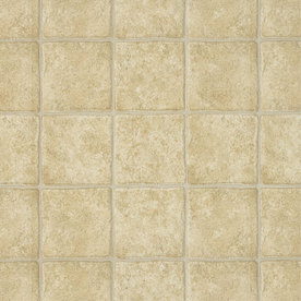 Armstrong 12-ft W Soho Paver Neutral Stone High-Gloss Finish Sheet Vinyl