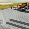 Style Selections Fieldstone Gray Groove Composite Deck Board (Actual: 1-in x 5.5-in x 12-ft)