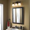 "Style Selections 31""H x 24""W Broadway Java Rectangular Bath Mirror"