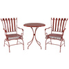 Garden Treasures Set of 2 Jacoby Junction Red Mesh Seat Steel Patio Dining Chairs