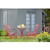 Garden Treasures Jacoby Junction Red Round Patio Bistro Table