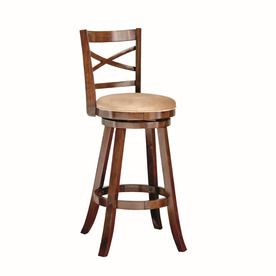 Style Selections Warm Brown 42-in Tall Stool