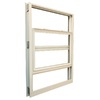 Ply Gem 1600 Series 1600 Aluminum Double Pane Single Strength New Construction Single Hung Window (Rough Opening: 53.125-in x 38.375-in; Actual: 52.125-in x 37.375-in)