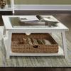 Liberty Furniture Summerhill Linen Birch Square Coffee Table