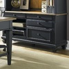 Liberty Furniture Bungalow Driftwood/Black Credenza Desk