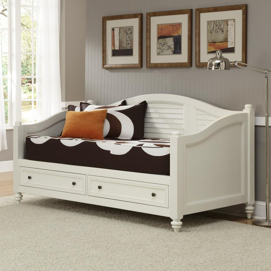 ... Styles Bermuda Brushed White Twin Daybed with Storage at Lowes.com