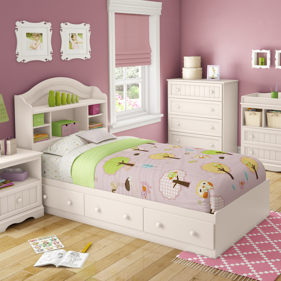 ... Furniture Savannah White Twin Platform Bed with Storage at Lowes.com