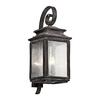 Kichler Lighting Wiscombe Park 30.5-in H Weathered Zinc Outdoor Wall Light