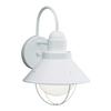 Kichler Lighting Seaside 12-in H White Dark Sky Outdoor Wall Light
