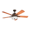 Kichler Lighting Lacey 52-in Olde Bronze Downrod Mount Indoor Ceiling Fan with Light Kit and Remote Control  ENERGY STAR
