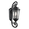 Kichler Lighting Courtyard 46.75-in H Textured Black Outdoor Wall Light
