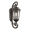 Kichler Lighting Courtyard 46.75-in H Rubbed Bronze Outdoor Wall Light