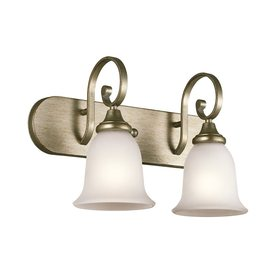 Shop Kichler Lighting 2 Light Monroe Sterling Gold Bathroom Vanity Light At L