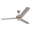 Monte Carlo Fan Company Studio 54-in Brushed Pewter Downrod Mount Indoor Ceiling Fan (3-Blade) ENERGY STAR