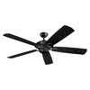 Monte Carlo Fan Company Cyclone 60-in Matte Black Downrod Mount Indoor/Outdoor Ceiling Fan (5-Blade) ENERGY STAR