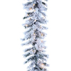 Northlight 12-in x 9-ft Pre-Lit Flocked Chestnut Artificial Christmas Garland with White Incandescent Lights