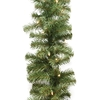Northlight 10-in x 50-ft Pre-Lit Indoor/Outdoor Pine Artificial Christmas Garland with White Incandescent Lights