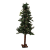 Northlight Allstate Floral and Craft 5-ft Pre-Lit Alpine Slim Artificial Christmas Tree with White Incandescent Lights