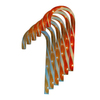 Northlight Sienna 6-Marker Clear Incandescent Electrical Outlet Powered Candy Cane Christmas Pathway Markers