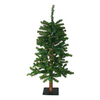 Northlight Darice 3-ft Pre-Lit Alpine Slim Artificial Christmas Tree with White Incandescent Lights