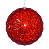 Northlight Penn Lighted Ball Hanging Outdoor Christmas Decoration with Red LED Lights