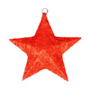 Northlight Alger Lighted Star Hanging Outdoor Christmas Decoration with White Incandescent Lights