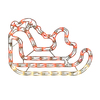 Northlight Sienna Lighted Sleigh Hanging Outdoor Christmas Decoration with Multicolor Incandescent Lights