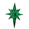 Northlight Penn 1-ft 6-in Lighted Hanging Star Outdoor Christmas Decoration with Green Twinkling LED Lights
