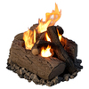 Real Flame Concrete Gas Fire Pit Log