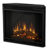 Real Flame 23.6-in W 4780-BTU Metal Wall-Mount LED Electric Fireplace with Thermostat and Remote Control