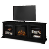 Real Flame 67.75-in W 4780-BTU Black Wood LED Electric Fireplace with Thermostat and Remote Control