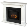 Real Flame 48-in W 4780-BTU White Wood LED Electric Fireplace with Thermostat and Remote Control