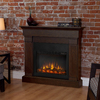 Real Flame 47.4-in W 4780-BTU Chestnut Oak Wood LED Electric Fireplace with Thermostat and Remote Control
