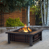 Real Flame Morrison 33.6-in W Stainless Steel Wood-Burning Fire Pit