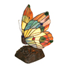 Chloe Lighting 9.5-in Tiffany-Style Butterfly Indoor Table Lamp with Glass Shade