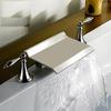 Kokols USA Brushed Nickel 2-Handle Fixed Deck Mount Bathtub Faucet
