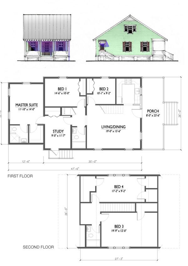 The Katrina Cottage - Model 1807