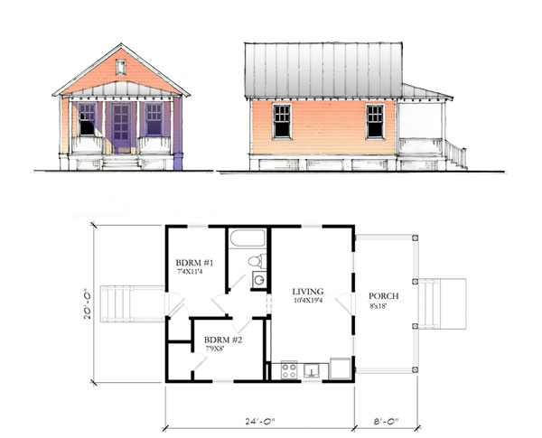 The Katrina Cottage - Model 480