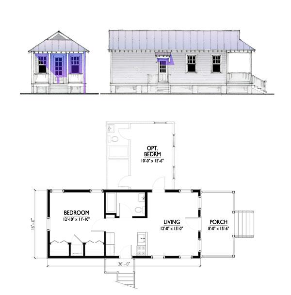 The Katrina Cottage Model 576