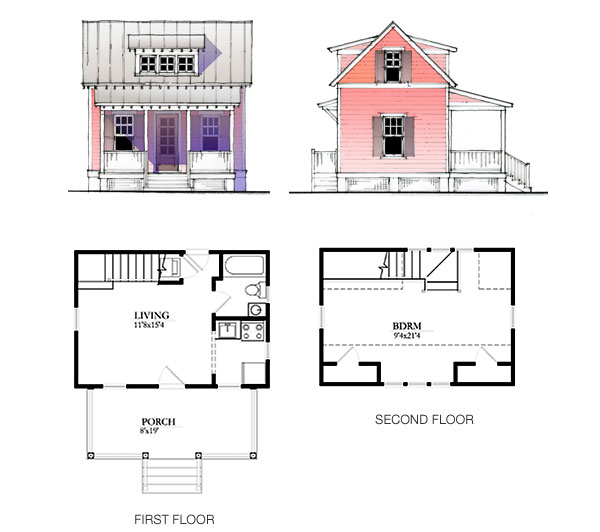 The katrina cottage model 633 for Katrina cottage floor plans